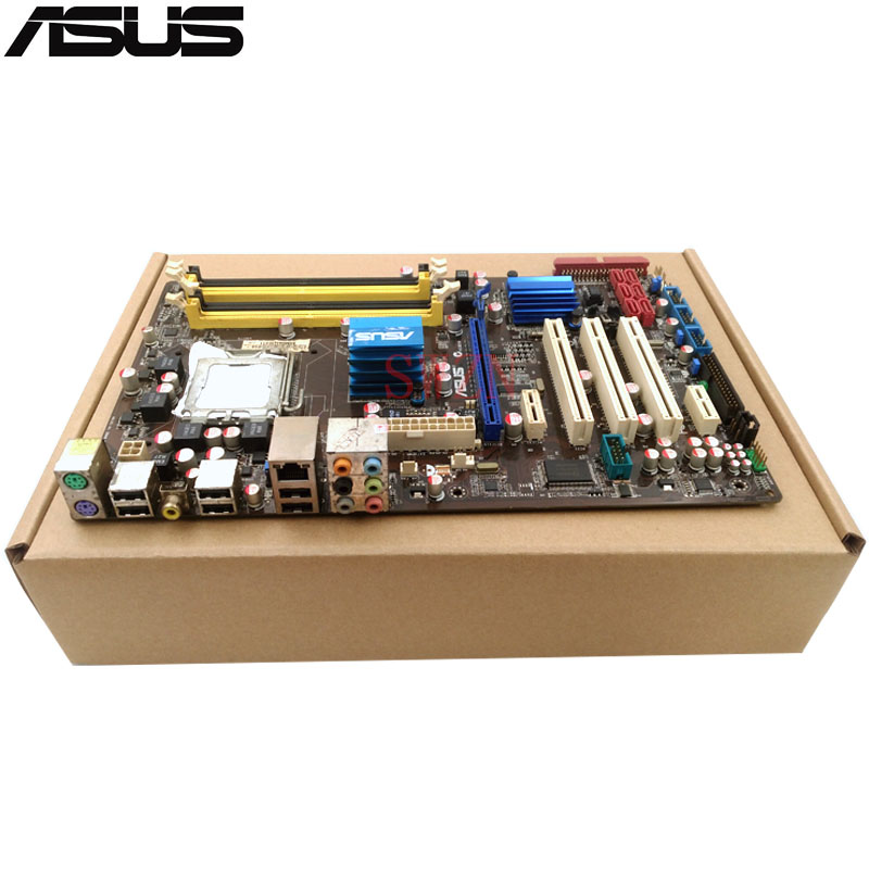 original Used Desktop motherboard For ASUS P5QL PRO P43 support LGA7756 DDR2 support 16G 6*SATA II USB2.0 ATX asus p5ql cm desktop motherboard g43 socket lga 775 q8200 q8300 ddr2 8g u atx uefi bios original used mainboard on sale