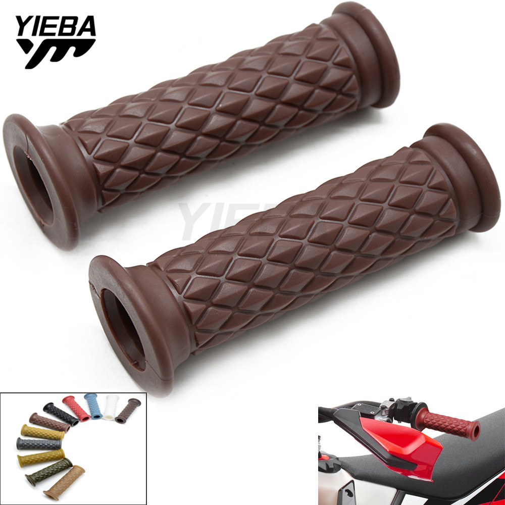 "7/8"" 22MM Motorcycle Hand Grips Retro Handle Rubber Bar Gel Grip for KAWASAKI KLX125,D-TRACKER125 KLX150S KLX250,D-TRACKER Kx250"
