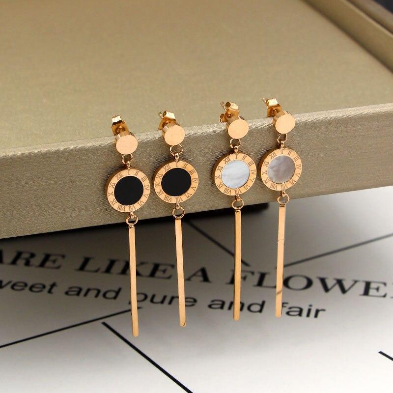 ספרות רומית אופנה החדש טאסל תכשיטי עגילים לנשים עגילי פגז סעיף ארוך המתנה הטובה ביותר