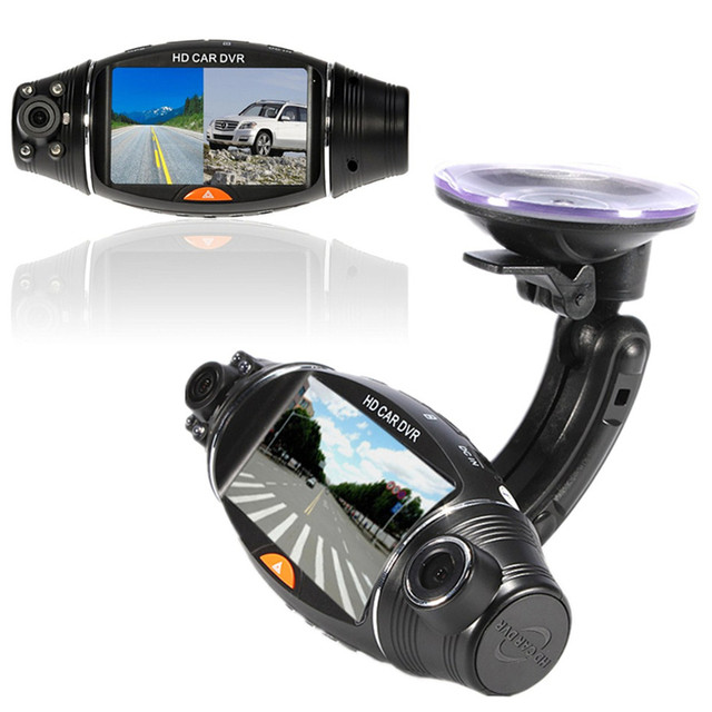 Multi-function 270 Degree 2.7 inch IR Night Vision G-sensor GPS LCD Dual Lens Dash HD DVR Car Auto Vehicle Camera Video Recorder