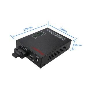 Image 3 - Ethernet media converter 10/100M 4 port+1 fiber port optical SC 1310/1550nm AB Single mode dual fiber media converter 1 pcs