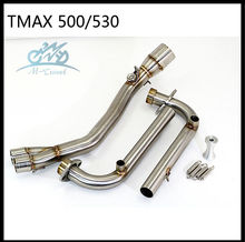 Motorcycle Exhaust Full system FOR Tmax 500 TMAX530 2008-2016 without exhaust fit for 51mm exhaust and muffer