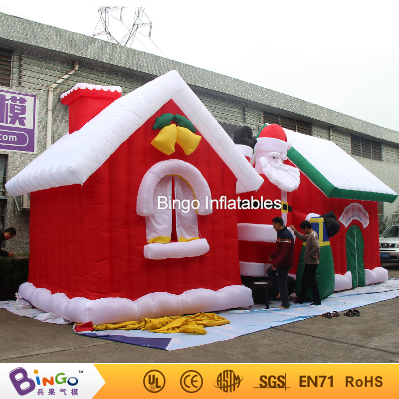 Free Express 9x4x4 Meters inflatable christmas house and santa decorations customized blow up christmas figures for event toys customized chrismas house inflatable christmas decoration 3 3m