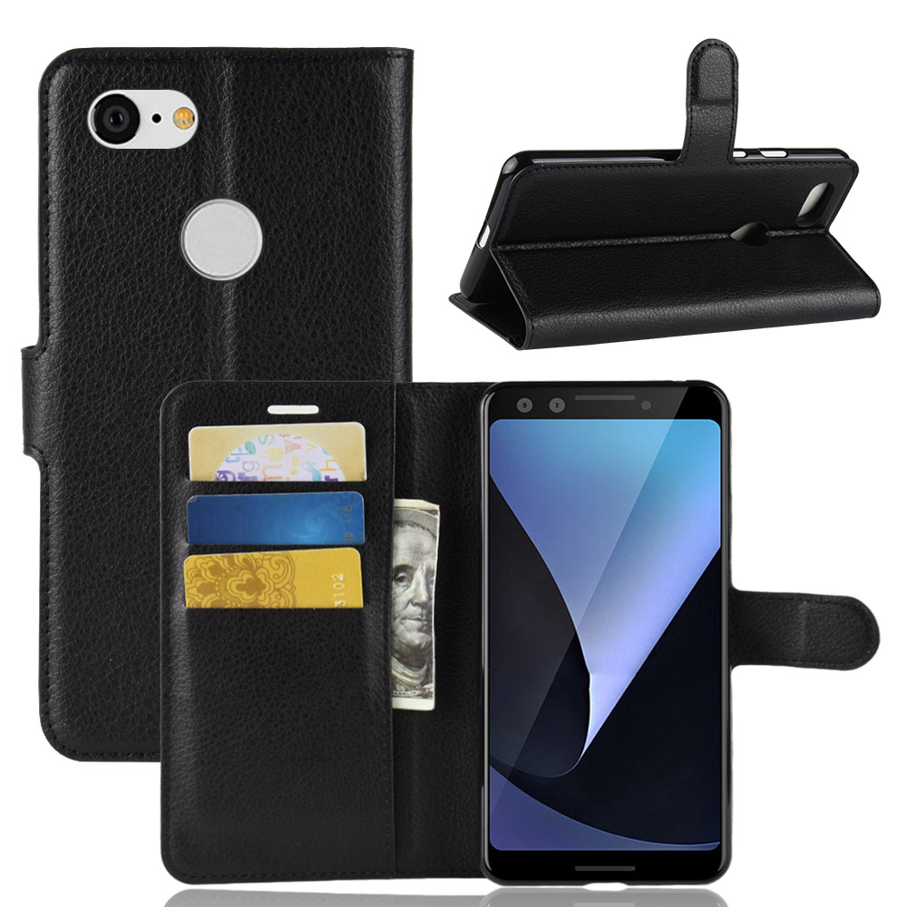 Pixel-3 Case For Google Pixel 3 Wallet Cases Card Stent Book Style Flip Leather Covers Protect Cover Black For Google Pixel3