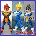 FÃS MODELO DaTong DT Dragon Ball Z Vegeta Saiyan Trunks sdcc ceia cabelo Preto roupas de Combate cabeça Toy Figuras de Ação