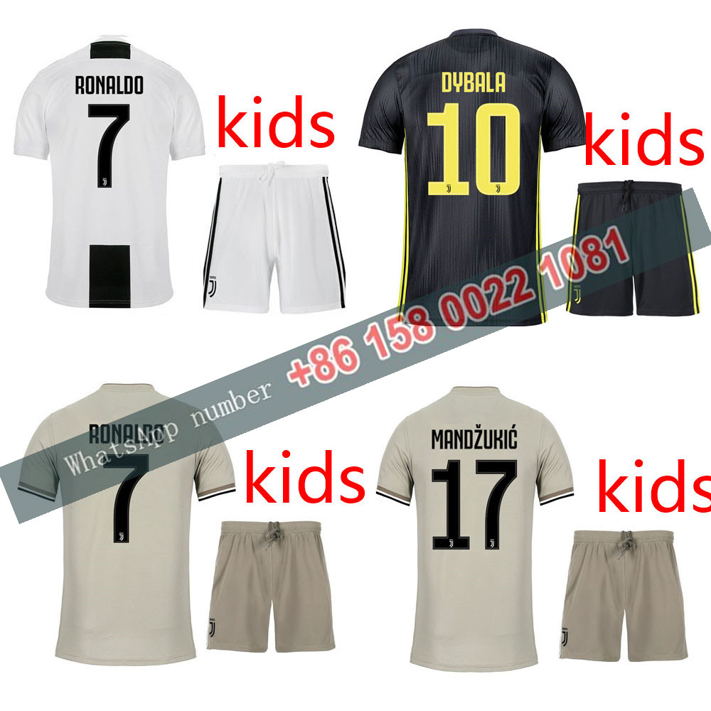 02339df08dd 2018 2019 Juventuses kids kits 18 19 Home Away third football Thai AAA+ shirt  dybala mandzukic