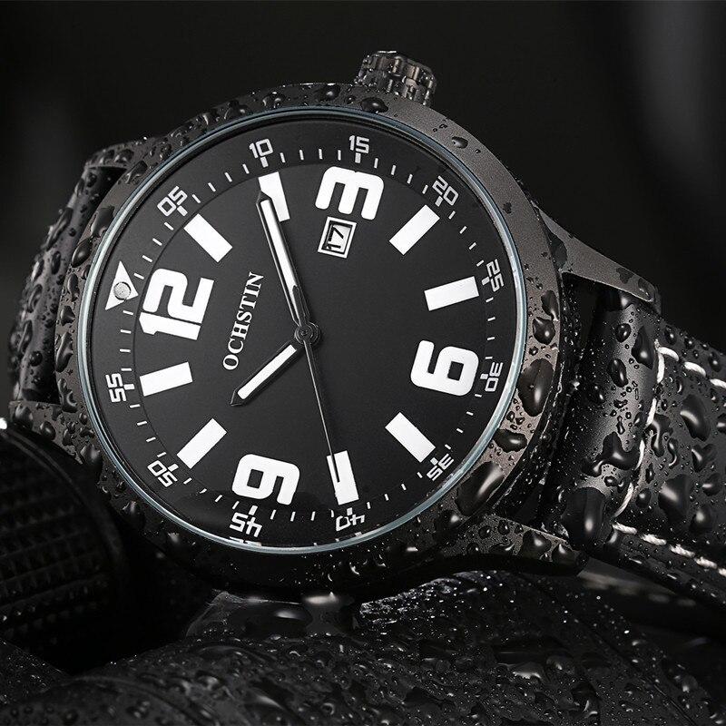 2016 Limited Ochsyin Business Fashion Quartz Watches Man Wristwatch Genuine Leather Strap Date Luxury Relogio font