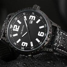 2016 Limitada Ochsyin Relojes Hombre Reloj de pulsera de Cuarzo del Negocio de Manera Genuina Correa de Cuero Fecha Reloj Hombre de Lujo Relogio Masculino