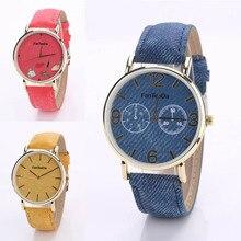 New Fashion Imitation Cowboy Pure Color Big WatchFace Fashion Watch Women Wrist Watches Gift High Quality LL@17