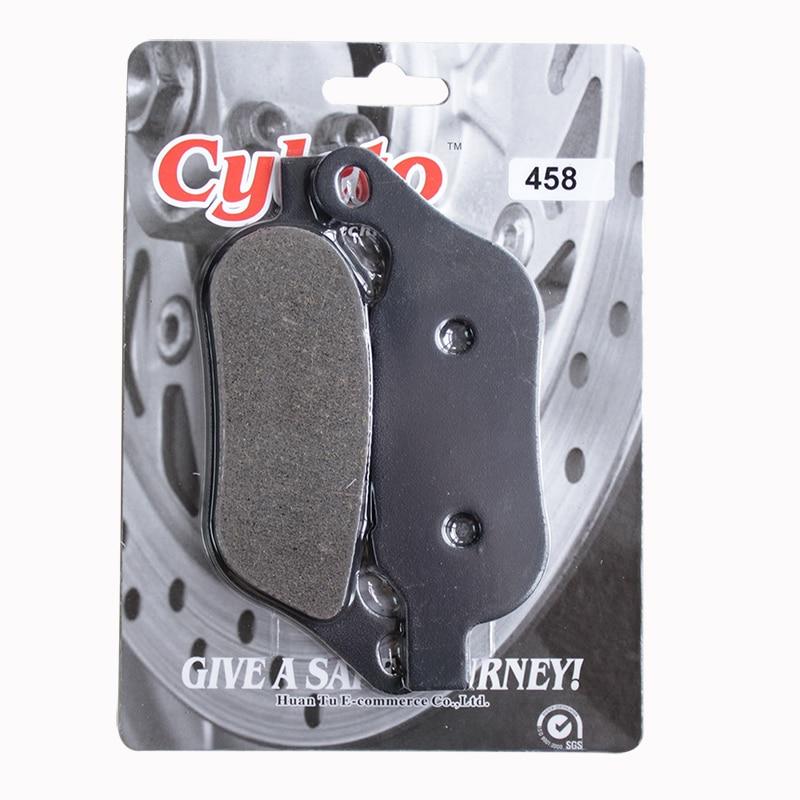 Cyleto Front and Rear Brake Pads for HARLEY DAVIDSON FXDB Street Bob 2008-2017 FXDC Super Glide Custom 2008-2014