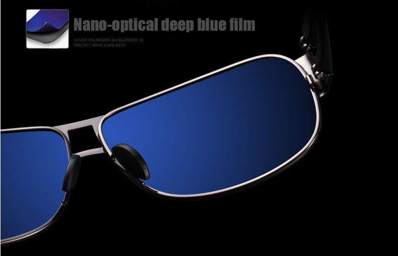 High Quality Alloy Polarized Sunglasses Men Vintage Male Sport Sun glasses Driving Google Eyewear Come with 6 Accessories K7806 10