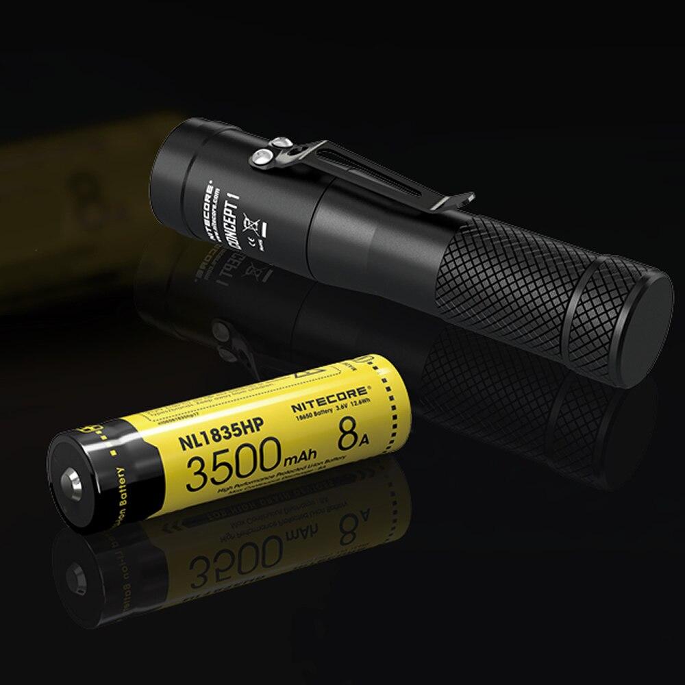 NITECORE C1 1800 Lumen CREE XHP35 HD E2 LED lampe de Poche + 18650 Batterie Rechargeable Magnétique Tailcap Concept 1 Torche Livraison gratuite