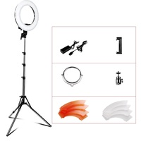 Travor 12 inch LED Ring Light Studio Camera ring lamp Video Ring Light Kit with mirror , Color Filer and Carry Bag for Makeup