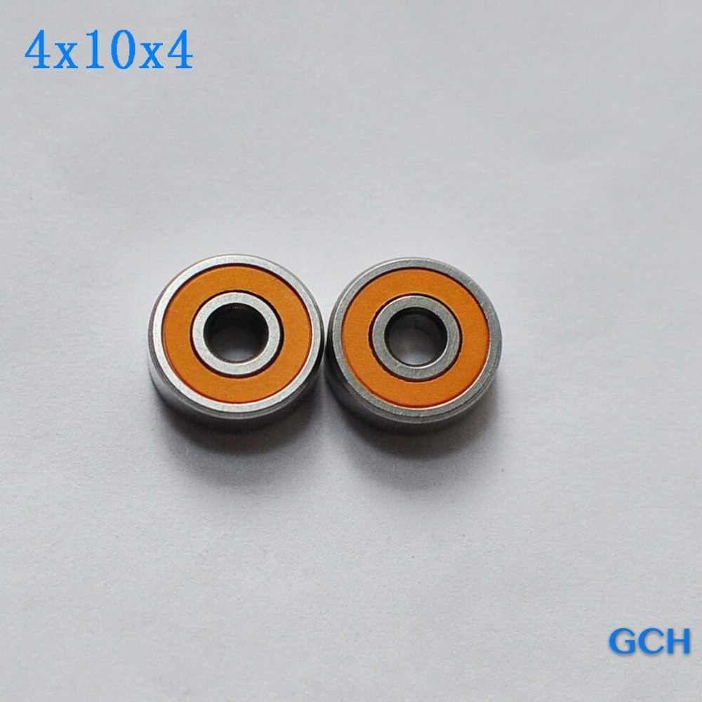 FOR ABU GARCIA SPOOL 2PCS 4x10x4mm Stainless Steel Hybrid Ceramic Fishing Reel  Bearings By GCH