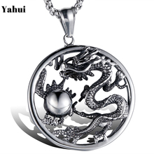 YaHui 2019The New stainless steel  Jinlong play beads necklaces & pendants vintage punk chains handmade fashion jewelry