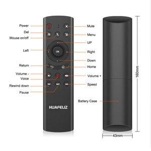 G20 Голосовое управление 2,4G Беспроводная G20S Fly Air Mouse Gyro клавиатура датчик движения мини пульт дистанционного управления для Android TV Box PK G30