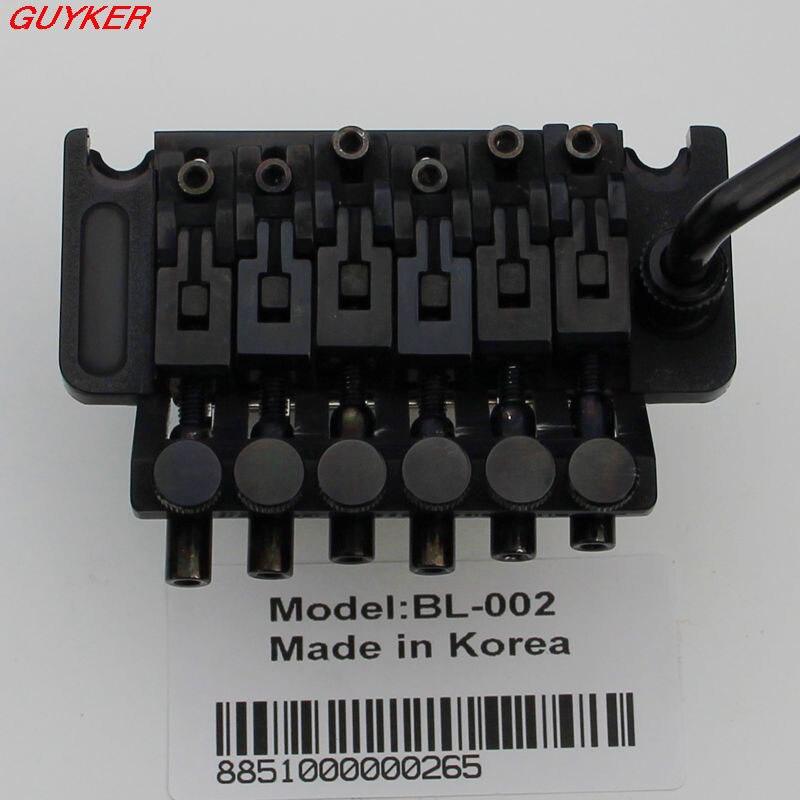 New Lic Tremolo Guitar Bridge Double Locking Black BL 002 BK