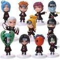 Anime Figura 11 pçs/set Orochimaru Naruto Zetsu Akatsuki Itachi Deidara Pein Conan Ação PVC Figura Coleccionáveis Modelo Brinquedos