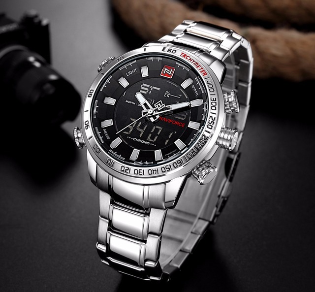 NAVIFORCE Mens Stainless Steel Analog Watch
