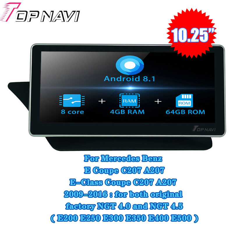 10.25'' Android 8.1 For <font><b>Mercedes</b></font> <font><b>Benz</b></font> E Coupe C207 A207 E-Class Coupe 2009-2016 Car Radio Stereo GPS Navigation player Autoradio image