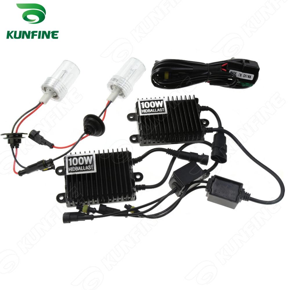 12v 100w H7 Car HID Conversion Kit HID xenon KIT car HID headlight with 100% AC ballast