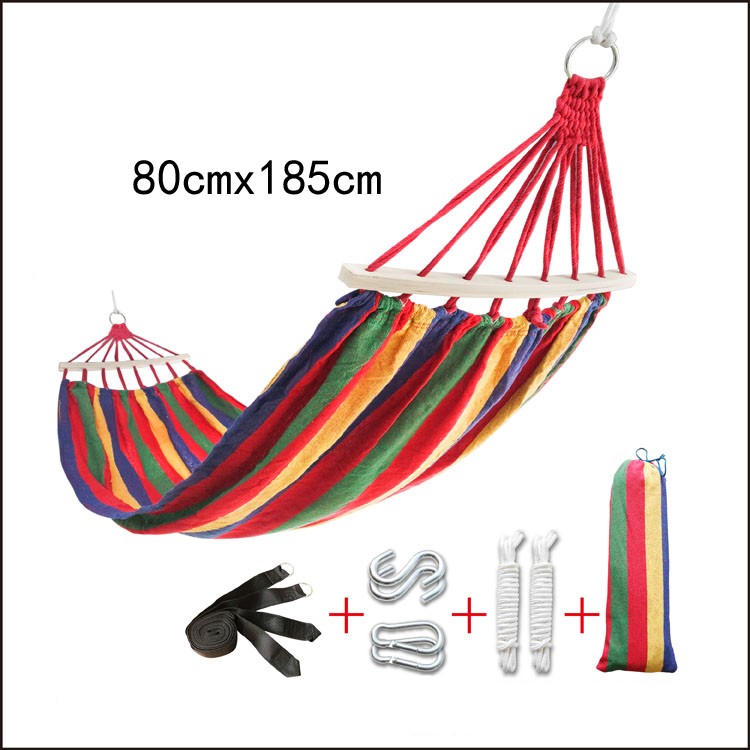 Colourful Outdoor Canvas Camping Hammock Bend Wood Stick  Garden Swing Hanging Chair часы nixon lodown ii never dry