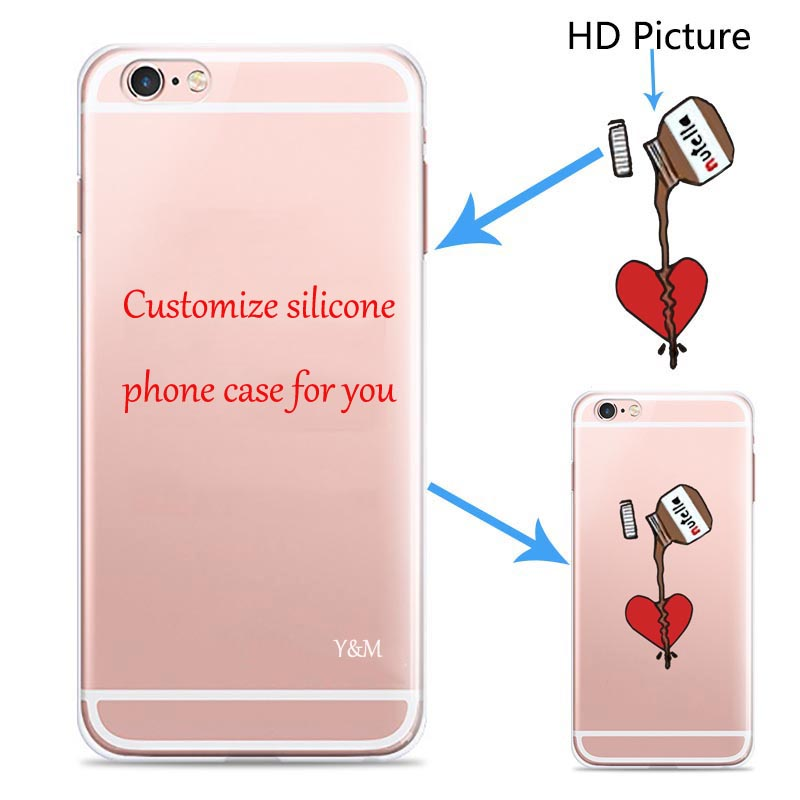 Detail Feedback Questions About Custom Design Diy Transpa Silicone Case Cover For Iphone 5 5s 6 6s 6plus 7 8 Plus X Customized Printing Cell Phone