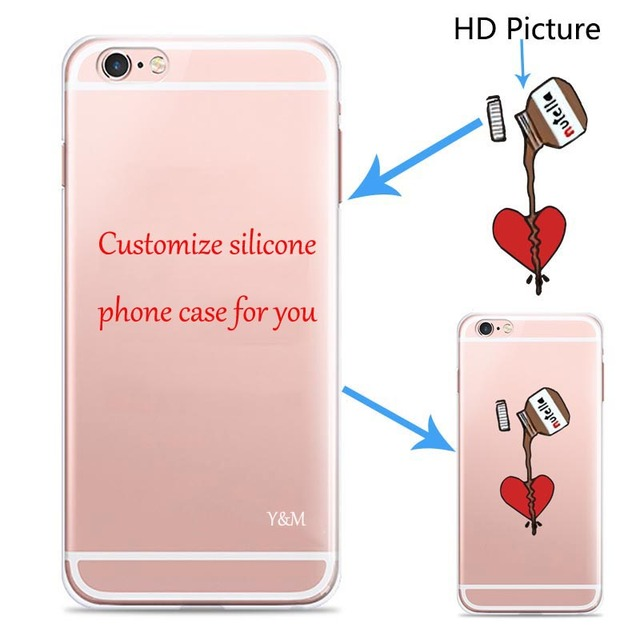 huge selection of eccd1 0a341 US $29.53 49% OFF|Custom Design DIY Transparent Silicone Case Cover For  iPhone 5 5s 6 6s 6plus 7 8 Plus X Customized Printing Cell Phone Case-in ...