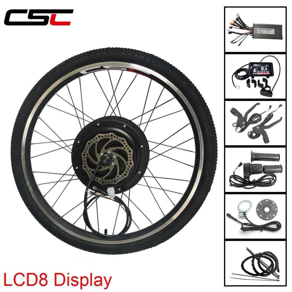 """MTB zestaw do zamiany na rower elektryczny z LCD8 wyświetlacz 250/500/1000/1500W 20 """"-29"""" 700C elektryczny rower górski zestaw do konwersji w celu uzyskania"""