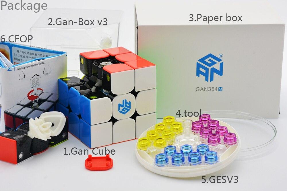 GAN354M 3x3x3 Cube magique sans autocollant avec aimant Gan 354 M Puzzle vitesse Cube pour WCA professionnel Cubo Magico Gan 354 M jouets - 6