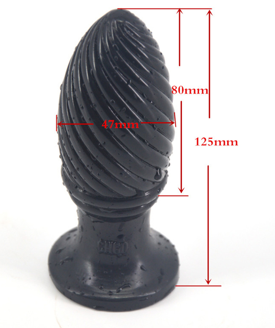 FAAK Cheap small pinecone thick anal plug couples flirt erotic toy fetish butt vagina stimulator dildo adult product promotion