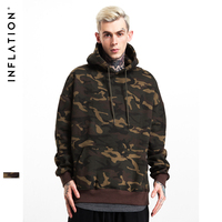 INFLATION 2017 A W New Collection Men Women Brand Streetswear Hip Hop Skateboard Hoodies Sweatshirt Camouflage