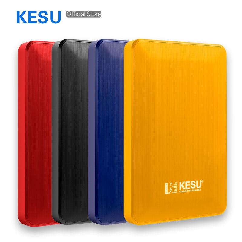 2TB KESU-2518 External Hard Drive 1TB USB3.0 HDD 500GB 120GB 160GB 250GB 320GB Portable External HD Hard Disk For Desktop Laptop 4 Color