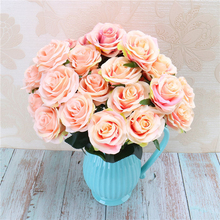 New 10 Heads French Rose Floral Bouquet Fake Flower Arrange Party Table Daisy Artificial silk Wedding Flowers Decor