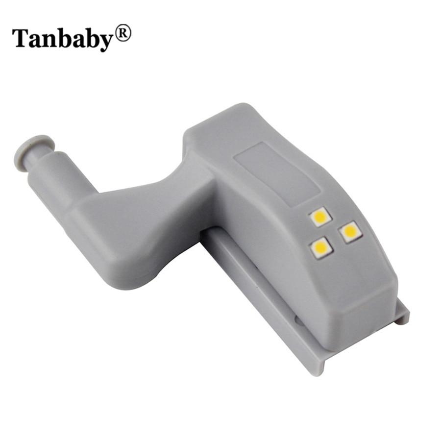Tanbaby 1 шт 0.25 Вт Мини петля светодиодный свет на батарейках Главная лампы для Кухня, шкаф, ящик, шкаф DC 1 2 В