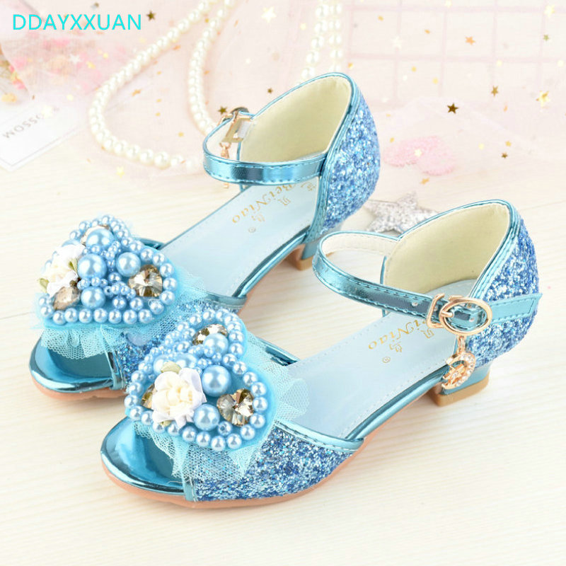 3d7165279 Children Princess Sandals 2018 New Summer Kids Girls Wedding Shoes High  Heels Dress Shoes Party Shoes For Girls Leather Shoes