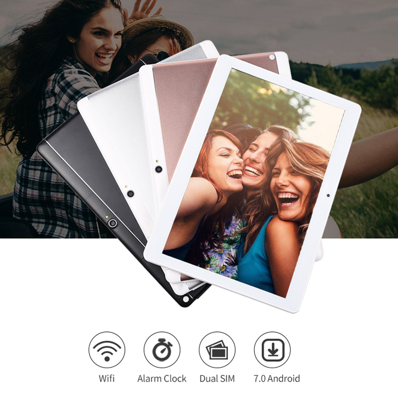 Nuevo 10,2 pulgadas 3G teléfono Android 7,0 Octa Core IPS 1920x1280 Tablet pc WiFi 4G + 64G 7 8 9 10 android tablet pc 4 GLTE Bluetooth