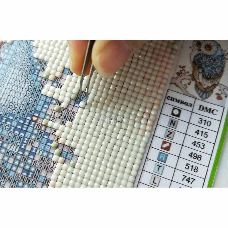 Teste padrão do diamante bordado 5D pintura diamante do ponto da cruz Máscara ícone de beleza de diamante de cristal quadrado arte decorativo inacabado