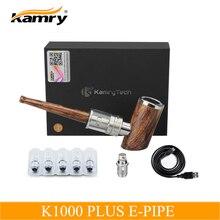 오리지널 Kamry k1000 Plus E 파이프 전자 담배 Mod Mod Hookah 펜 목재 E-pipe 전자 담배 키트, 추가 분무기 코일 5 개