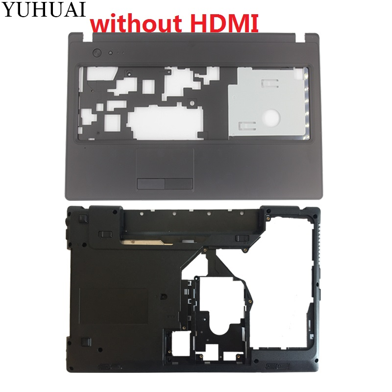 New Case Cover For Lenovo G570 G575 Palmrest COVER/Laptop Bottom Base Case Cover Without HDMI yaluzu new laptop bottom base case cover for lenovo y580 y585 y580n mainboard bottom casing case base replace d shell lower case