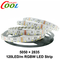 Double Row RGBW LED Strip 5050 RGB + 2835 White / Warm White DC12V 120 LED/m 5m/lot.