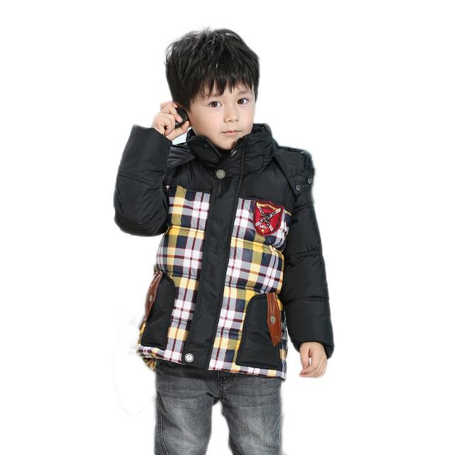 Chicos abrigos Chaqueta de invierno niños Ocasional Niños gruesa chaqueta de Invierno de Navidad Abrigo de Invierno Niño niños Parkas de invierno ropa de abrigo niños