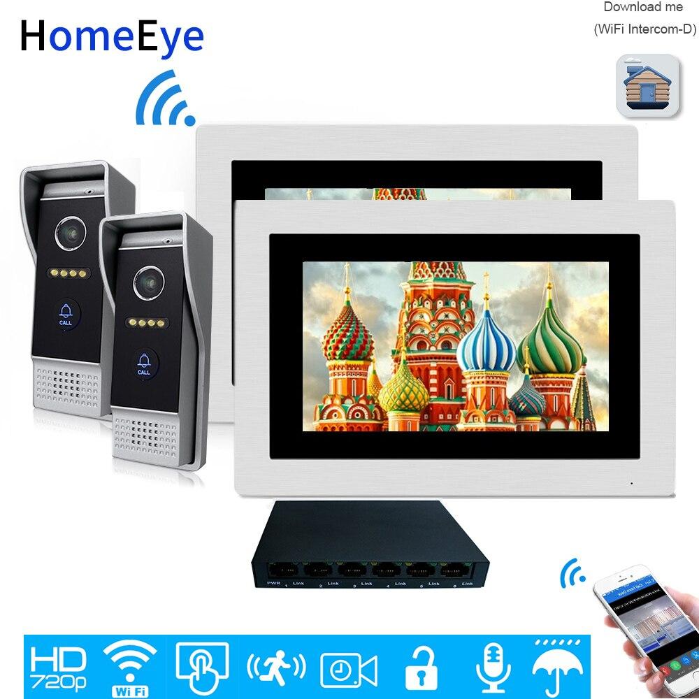 HomeEye 720P WiFi IP Video Door Phone Video Intercom Android/IOS APP 1.0MP Camera Home Access Control System Video Record Alarm