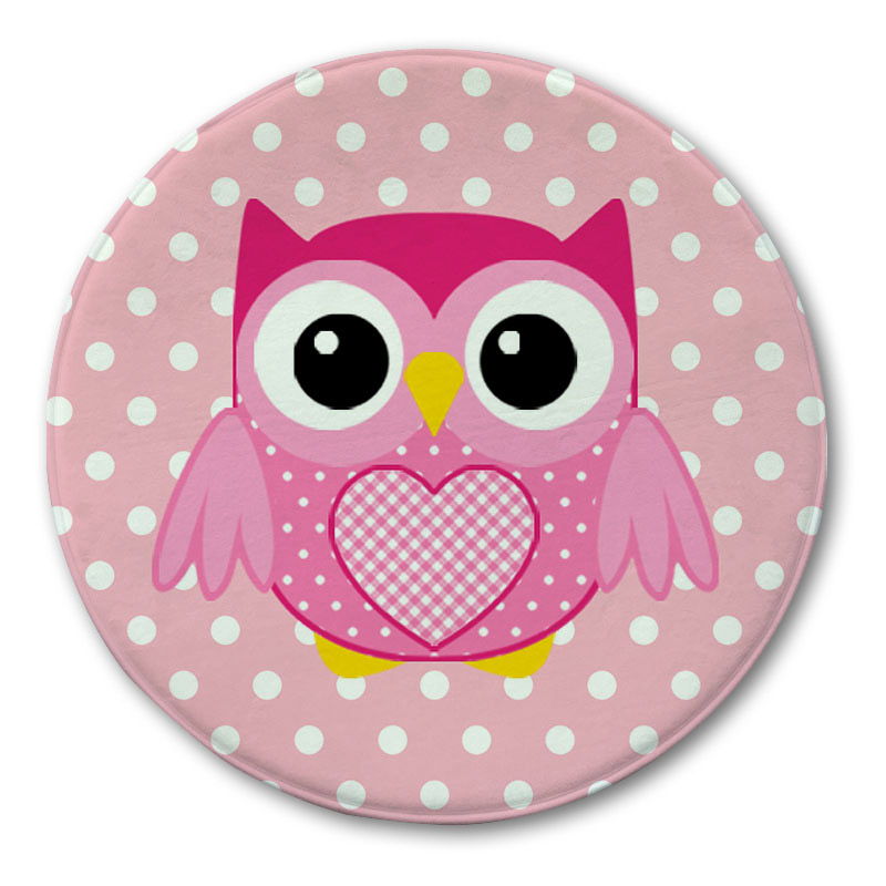 Charming Owl Printed Round Carpet Rug Doormat Bathroom Rugs Kitchen Carpets Floor  Mat Kids Room Entrance Door