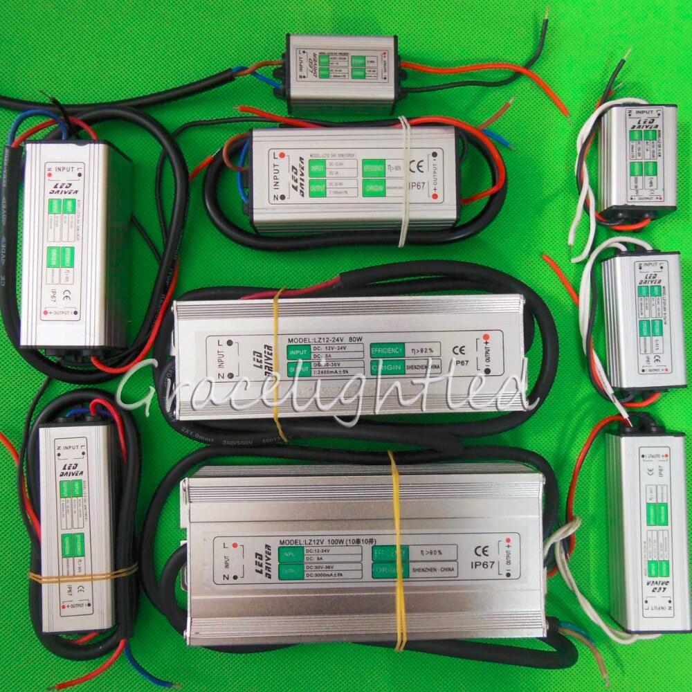 waterproof dc 12v 24v input constant current transformer power