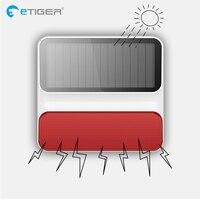 eTiger 433mhz Wireless outdoor Solar power strobe flash siren ES S8A for eTiger alarm system G90Bplus