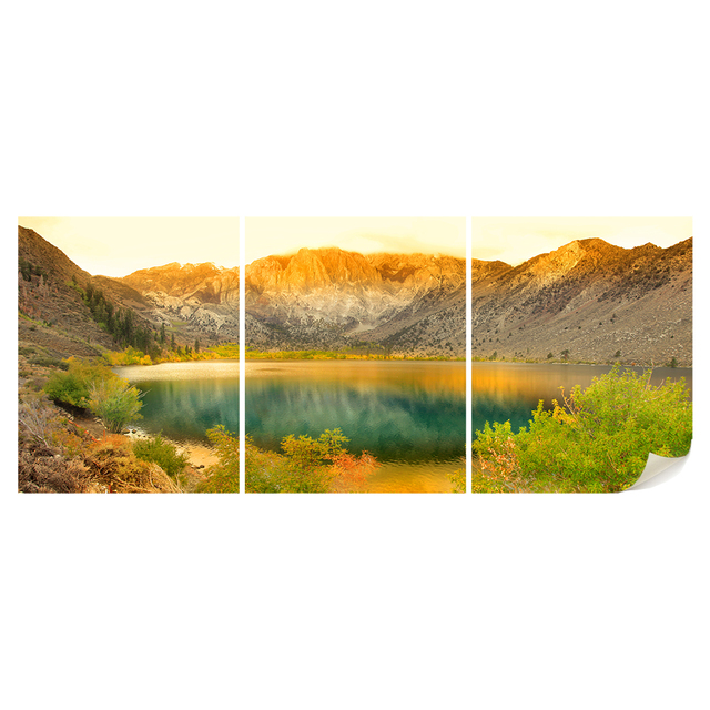 Wall Art Nature Lake Landscape Photo Poster Prints Mountain Scenery ...