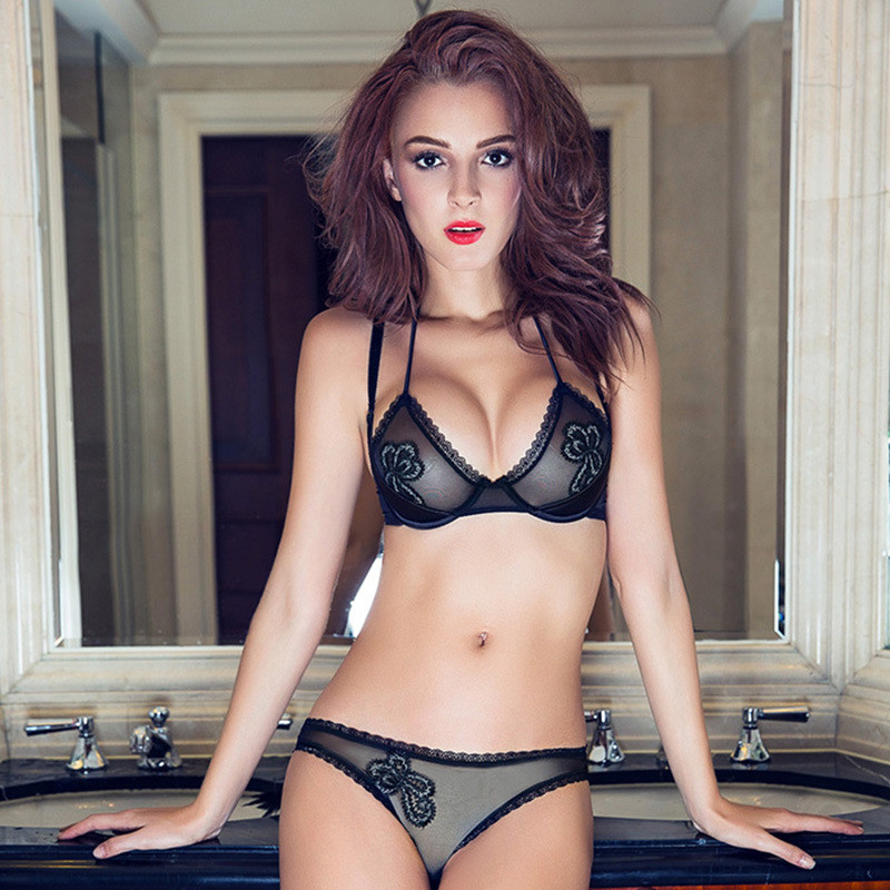 2015 france brand special sexy lingerie set see through bra and panties set ultra thin bralette. Black Bedroom Furniture Sets. Home Design Ideas