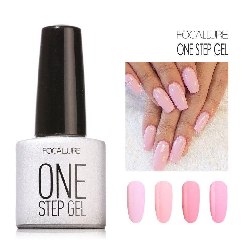 Professional Nail Art Kit Gel Polish Long Lasting Cute Pink Series One Step Focallure Makeup In From Beauty Health On
