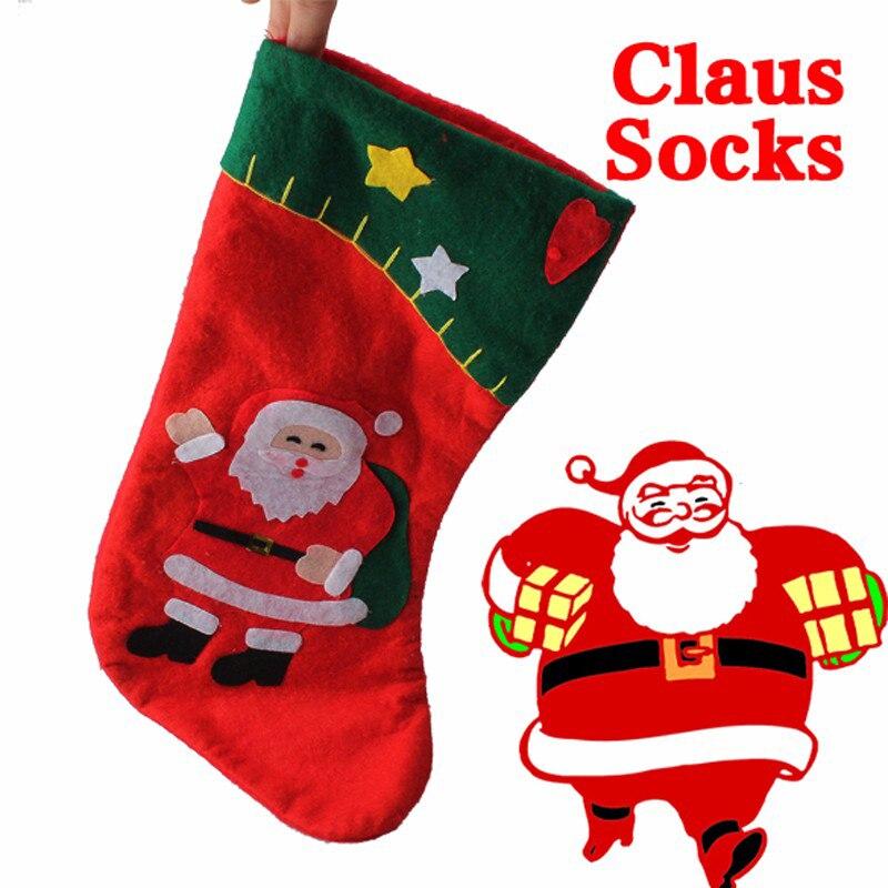 Предновогодние Чулки для женщин Новый год мешок конфет Санта Клаус чулок Носки для девочек Рождество украшение для Детский подарок Рождест... ...